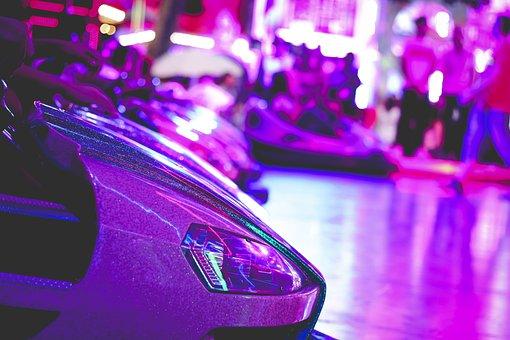 Fair, Bumper Cars, Violet, Year Market, Auto, Fun