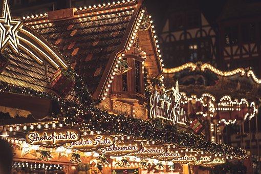 Lights, Christmas Market, Christmas, Christmas Lights