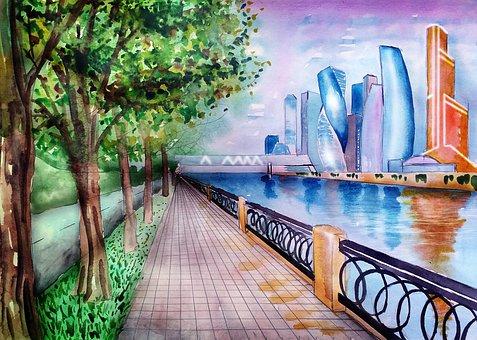 Moscow City, City, Moscow, Megalopolis, City Centre