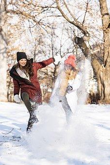 Winter, Snow, Fun, Friends, Cold, Part, Joy