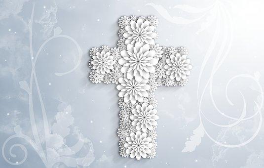 Jesus, God, Holy Spirit, Christian, Cross, Flower