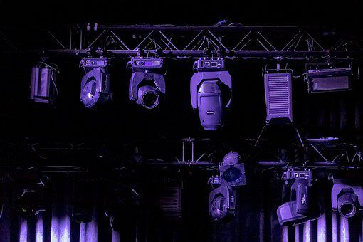 Stage, Lights, Technology, Art, Show, Curtain, High