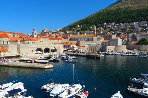 Dubrovnik, Croatia, Harbour, Tourism, Dalmatia, Summer