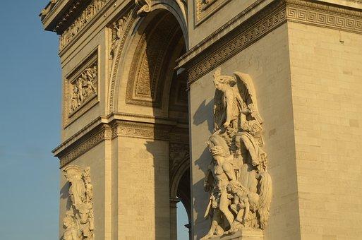 Paris, Arch Of Triumph, France, Monument, Architecture