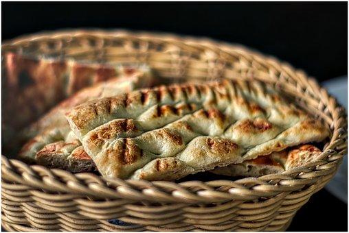 Bread, Basket, Food, Fresh, Eat, Delicious, Crispy
