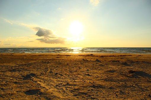 The Sun, Beach, Glow, Flash, Light, Glossy, Lighting