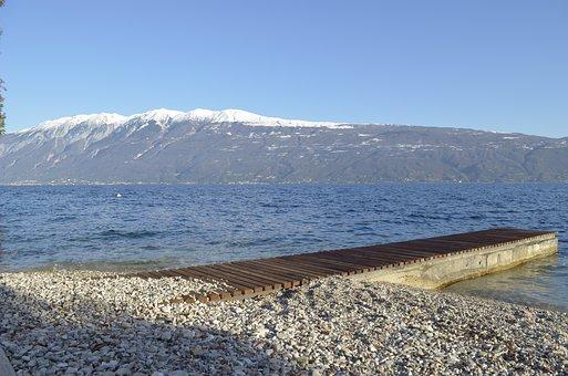 Gargnano, Lagodigarda, Gardalake, Lake, Water, Snow