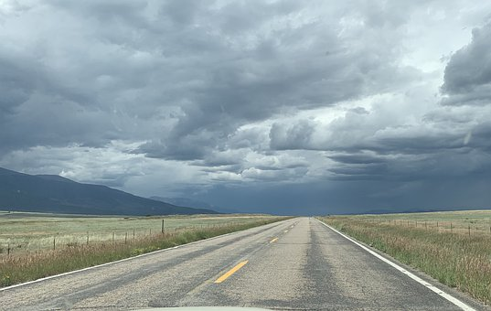 Storm, Empty Road, Landscape, Colorado, Highway, Rural