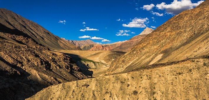 Landscape, India, Himalayas, Mountains, Travel