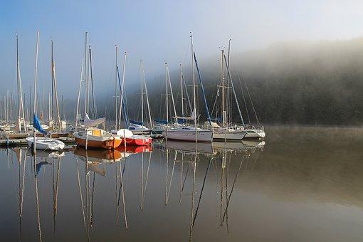 Lake, Water, Boats, Sailing Boats, Nature, Landscape
