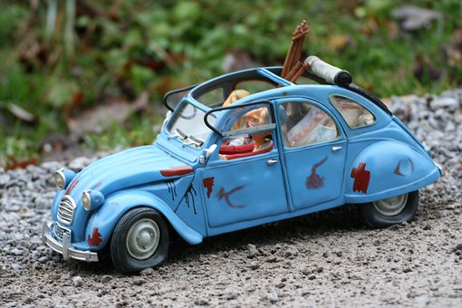 Auto, Passenger Cars, Citroen, Pkw, Blue, Miniature