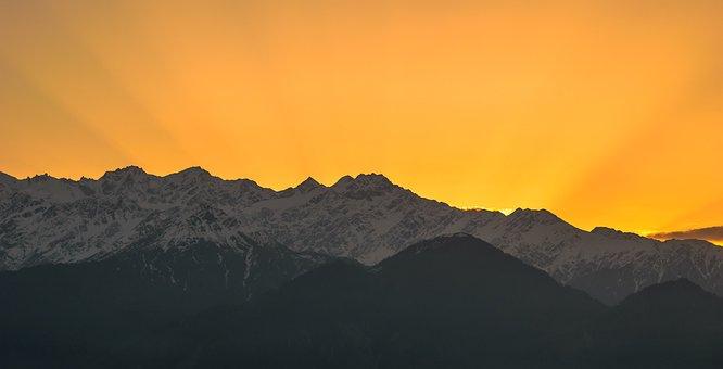 Landscape, Mountains, Himalayas, Nature, Sunrise