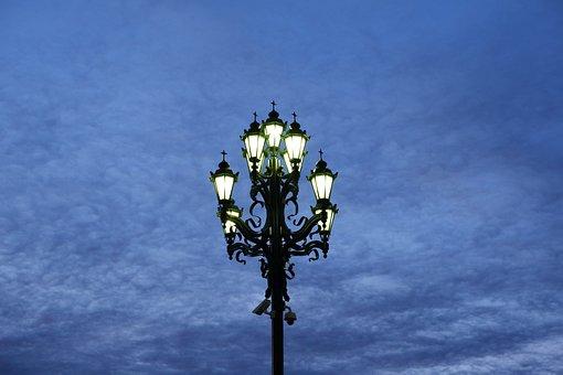 Lantern, Street, Night, City, In The Evening, Sky, Dark
