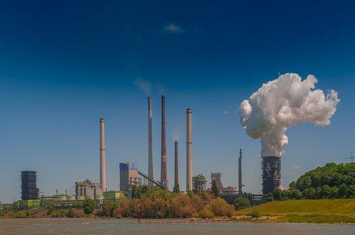 Industry, Steel Mill, Smoke, Heavy Industry, Chimney