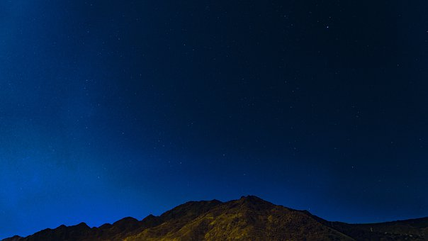 Starry Sky, Stars, Views, Mountains