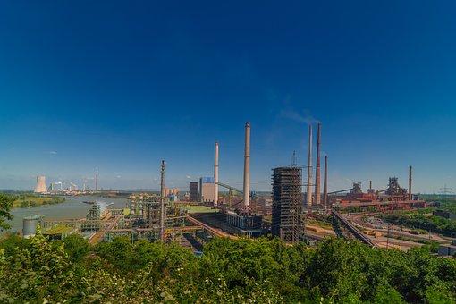 Industry, Duisburg, Ruhr Area, Industrial Plant, Steel