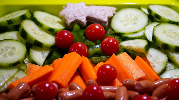 Vegetables, Tomatoes, Cucumbers, Carrots, Bio, Healthy