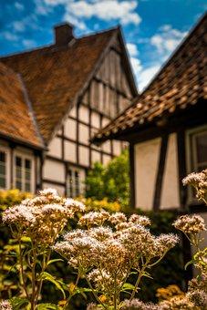 Garden, Houses, Truss, Farmhouse, Cottage Garden
