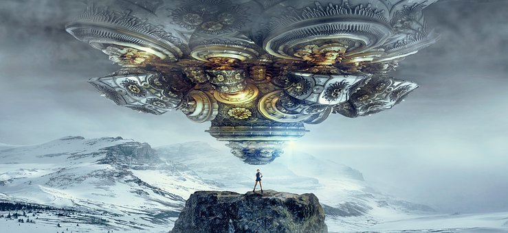 Fantasy, Ufo, Spaceship, Surreal, Float, Forward