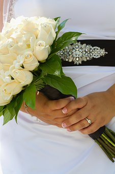 Bride, Wedding, Flowers, Wedding Dress, Wedding Bouquet
