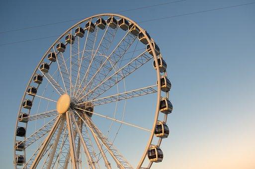 Festival, Netherlands, Holland, Evening, Wheel