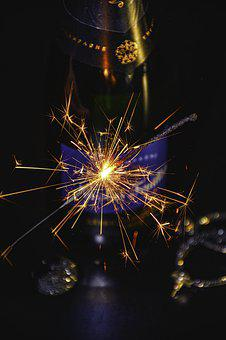 New Year Eve, 2020, Champagne, Illusion, Fireworks