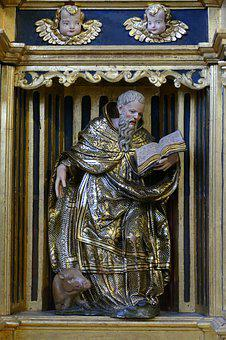 Holy, Man, Angel, Read, Hog, Gold, Gilt, Cathedral