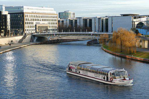Berlin, Capital, Architecture, Building, Modern, Spree