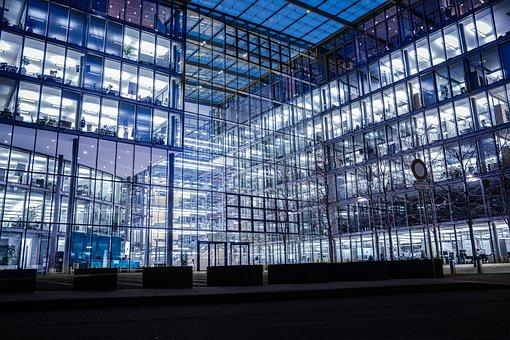 Blue, Architecture, Building, City, Window, Glass