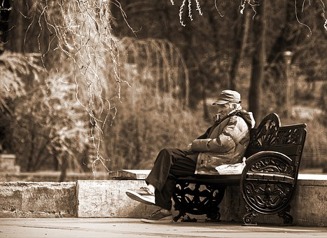 Man, Old, Person, Clothes, Thick, Cap, Sad, Resting