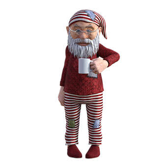 Gnome, Character, Dwarf, Cartoon, Midget, Beard, Hat
