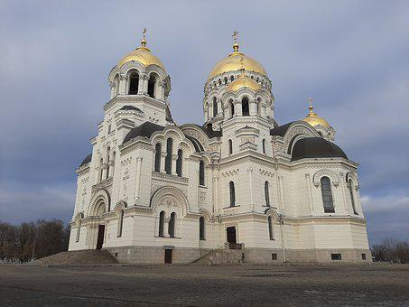 Temple, Church, Cathedral, Sky, Christianity, Orthodox