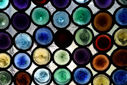 Glasses, Colors, Vitreaux, Glass, Architecture