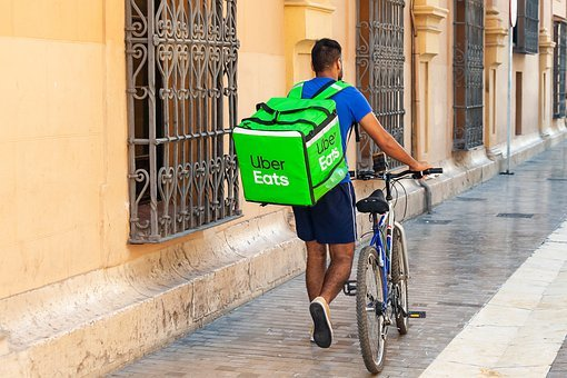 Uber Eats, Delivery, Courier, Parcel, Box, Service