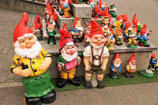 Dwarfs, Decoration, Many, Colorful, Gnome, Fairy Tales