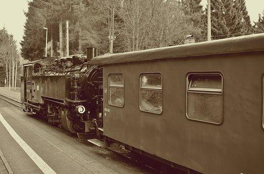 Steam Locomotive, Fichtelberg Railway, Retro