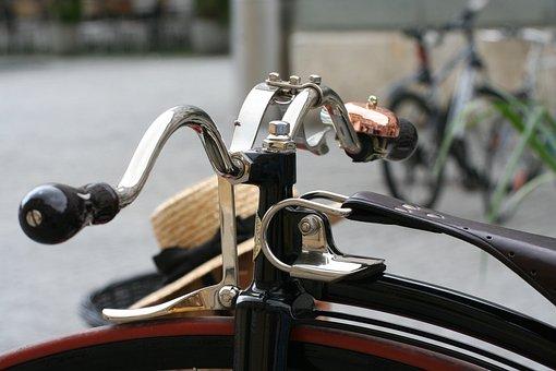Penny Farthing, Handlebars, Bike, Velo, Wheel, Spokes