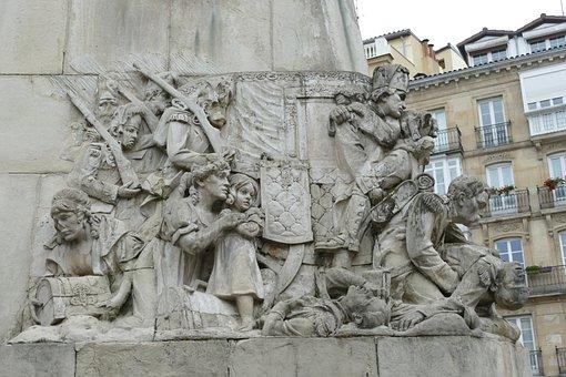 La-batalla-de-vitoria, Statue, Image, Monument, War