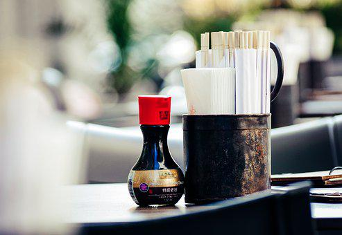 Restaurant, Soy Sauce, Japanese, Lunch Chopsticks, Asia
