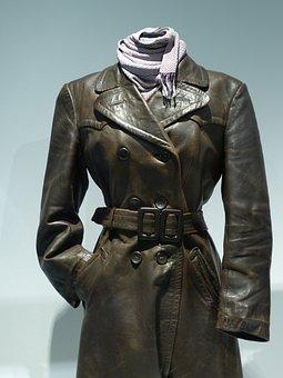 Coat, Leather, Clothing, Male, Collar, Leather Coat