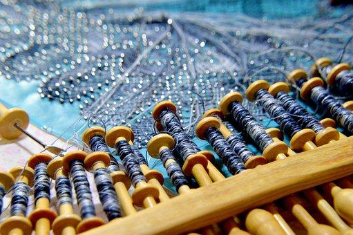 Embroidery, Embroiderer, Wire, Work, Manual, Crafts