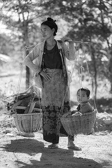 Myanmar, Mom, Child, Mother, Burma, Woman, Family