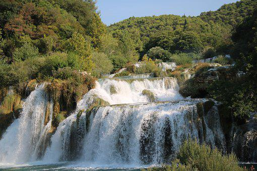 Croatia, Waterfall, Nature, National Park, Travel