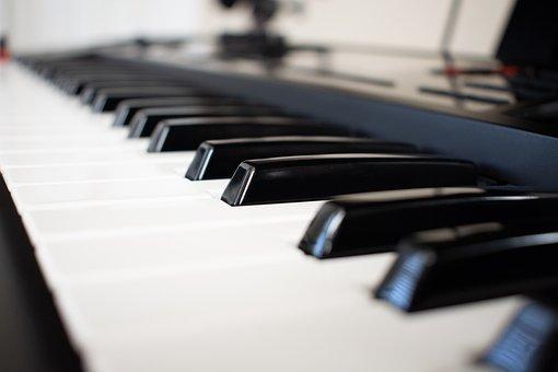Keyboard, Piano, Instrument, Keys, Black, Sound