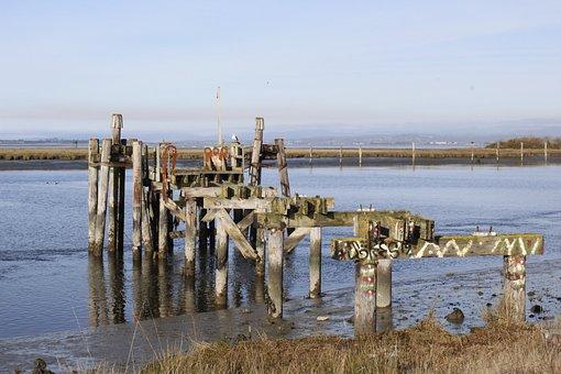 Pier, Jetty, Broken, Old, Sea, Abandoned, Outside
