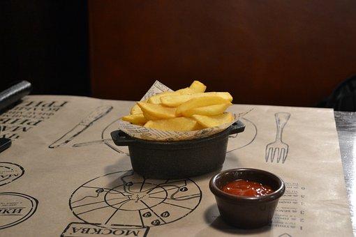 Potato, Fries, Potatoes, Cooking, Food, Tasty, Ketchup