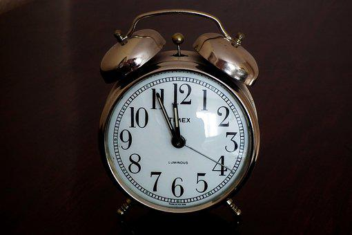 Alarm Clock, Clock, Time, Retro, Old, New Year's Eve