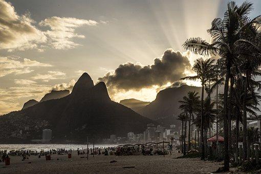 Pôr Do Sol, Sunset, Rio De Janeiro, Brazil, Brasil, Céu