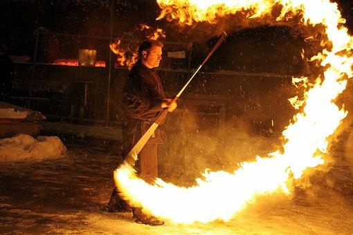 Fire Show, Fire, Flame, Shining, Light, Fire Circle
