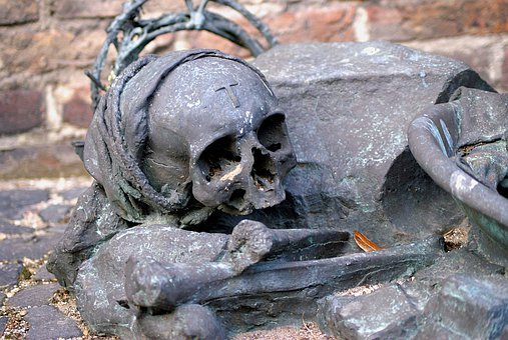 Sculpture, Skull And Crossbones, Skull, Figure, Art